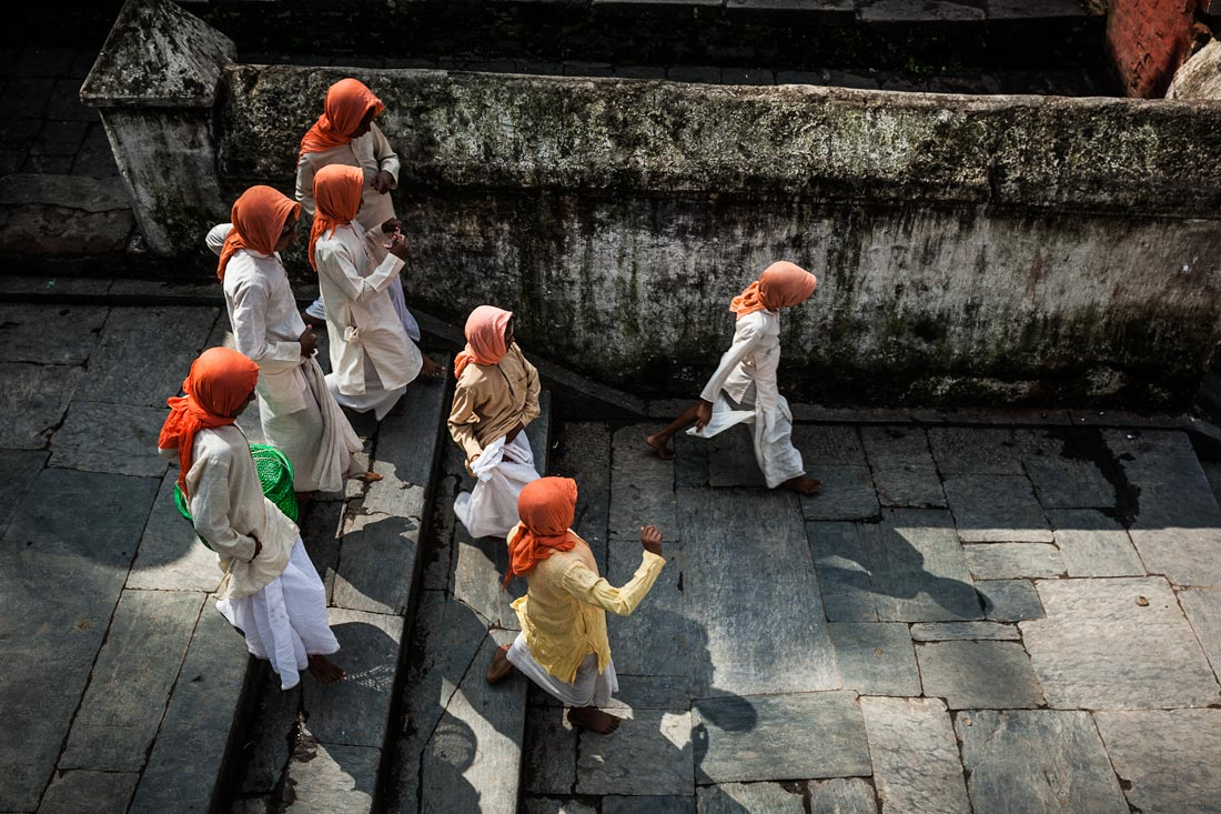 Young Brahmins in training at Pashupatinath, Nepal.