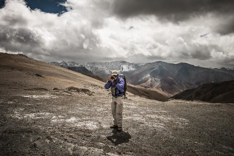 Adam Angel working in Upper Dolpo, Nepal